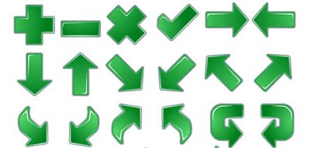 Green Arroow Icons